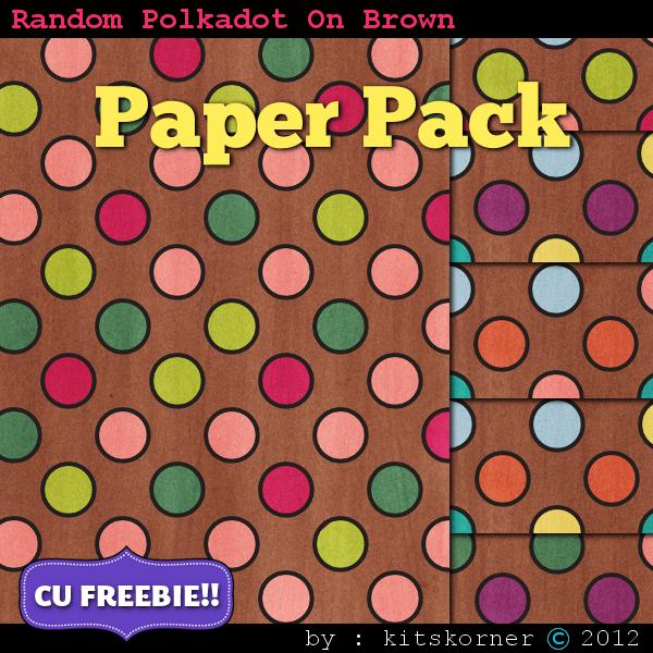 Digital Scrapbooking Paper Pack CU Freebie