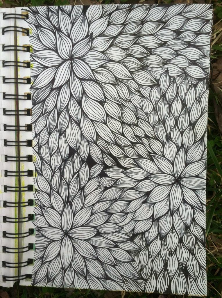 Sketchbook Floral Line Weaving Kitskorner
