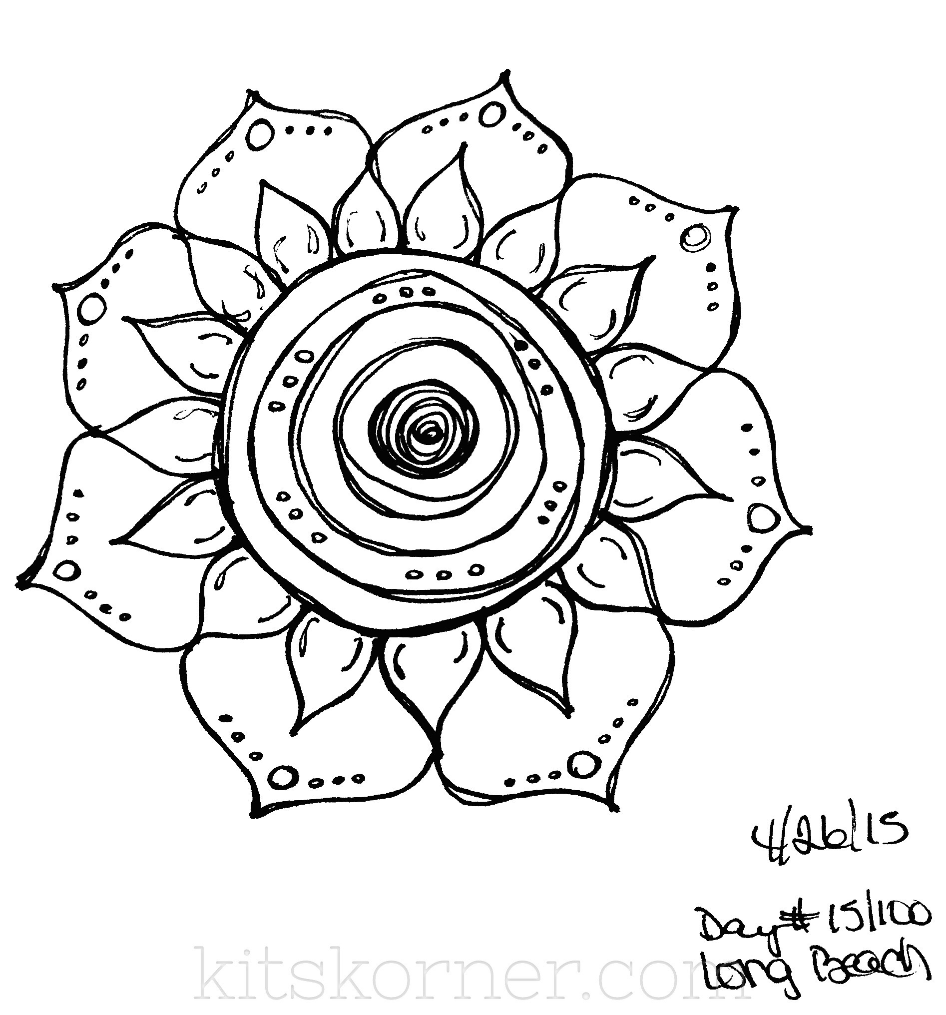 Sketchbook 100 Mandalas Challenge Week 3
