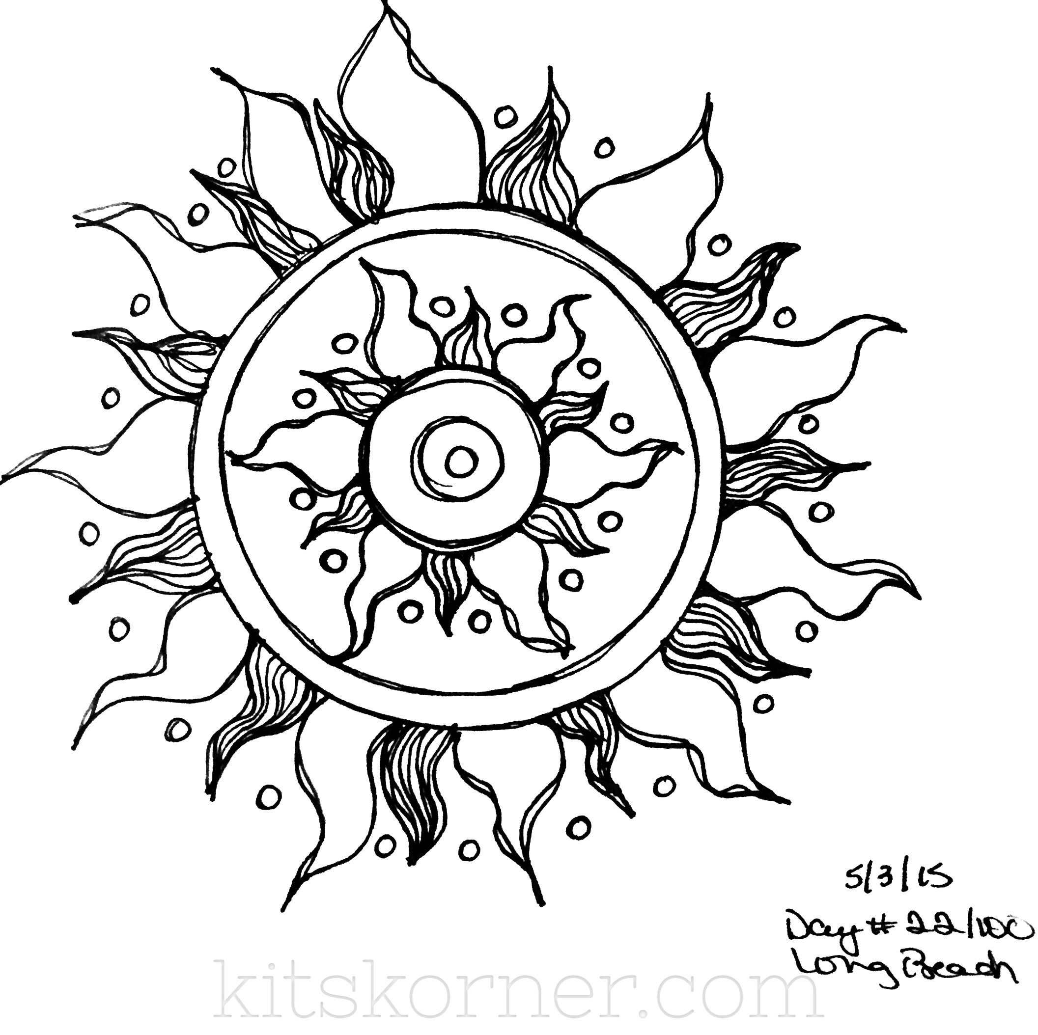 Sketchbook 100 mandalas challenge week 4 this one came about as we were watching tangled for the 948th time if youve seen the movie then you know the symbol in the movie is similar to this biocorpaavc Choice Image