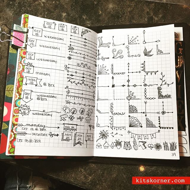 InstaDiary : Bullet journal inspiration.