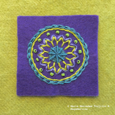 Embroidered Mini Mandala Tutorial