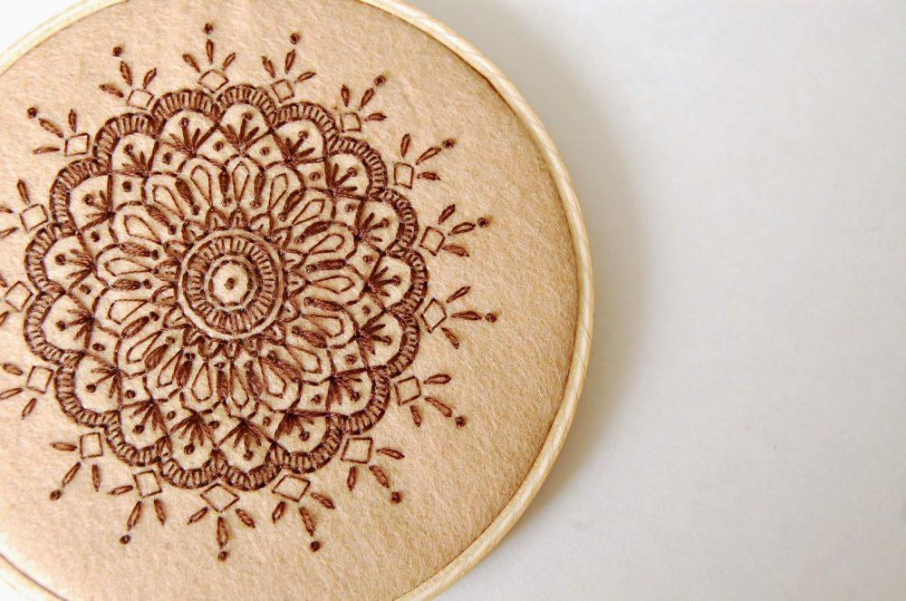 DIY Mandala Embroidery - kitskorner - SewSweetStitches