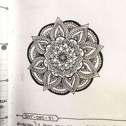 Dec 26-31 – Mandala Journal Closeup…