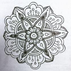 Dec 19-25 – Mandala Journal Closeup…