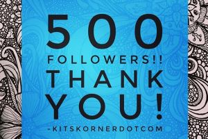 What a weekend! 500 followers! Thank you all!…