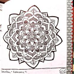 Jan 30 – Feb 5 – Mandala BuJo Closeup…