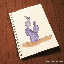 Watercolor Cactus Doodle…