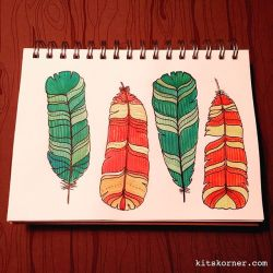 Watercolor Feather…