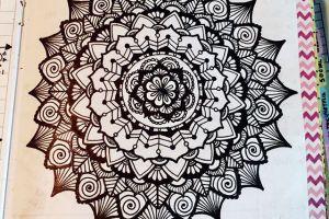 Apr 10-16 – Mandala BuJo Closeup…