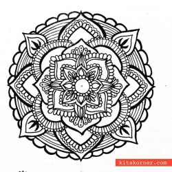 May 14-20 – Mandala BuJo Closeup…