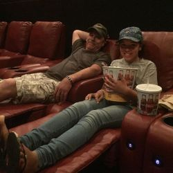 Father's Day done right! Kicked back at the movies!…
