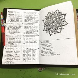 Jul 23-29 in my Mandala (BuJo) Journal…..
