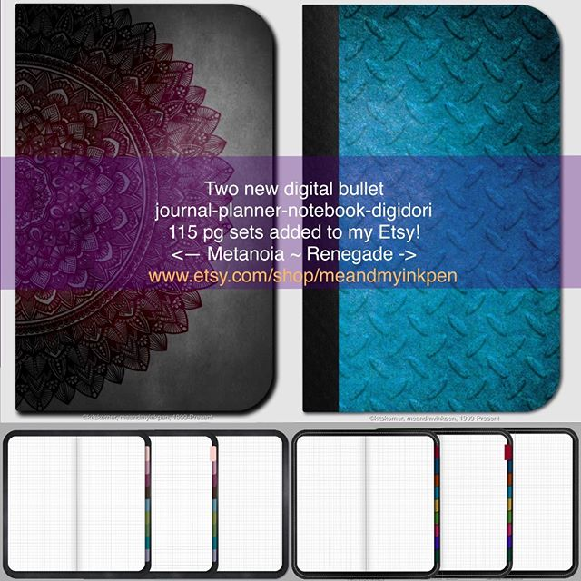 New on Etsy! Digital Journals - 115 grid pages with tabs & links.