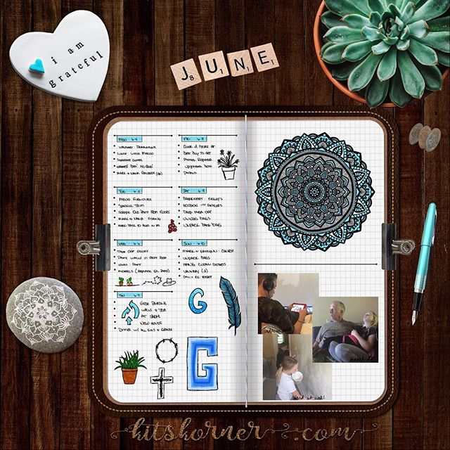 Jun 4 - 10 in my Digital Bullet Journal..