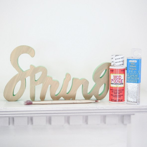 Spring Gold Sharpie Word Cut Out Decoration