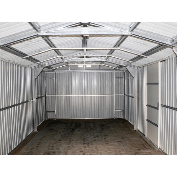 Duramax 12x20 Imperial Steel Storage Garage Kit White