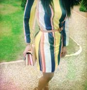 Boden Azalea Colour Block Stripe Tunic Dress for a Summer Wedding