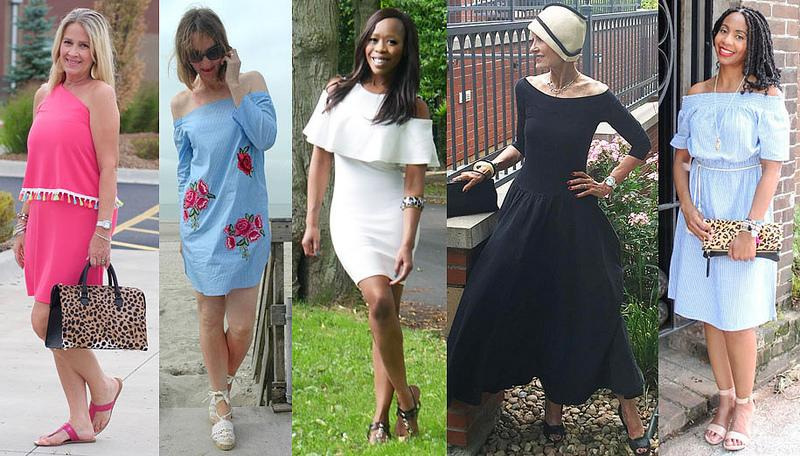 White Cold Shoulder Dress linked at Not Dressed as Lamb #iwillwearwhatilike