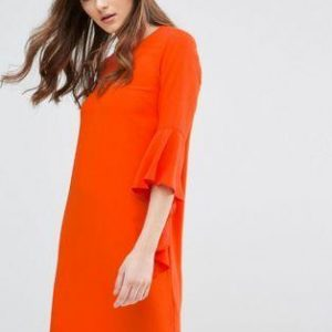 Orange Shift Dress