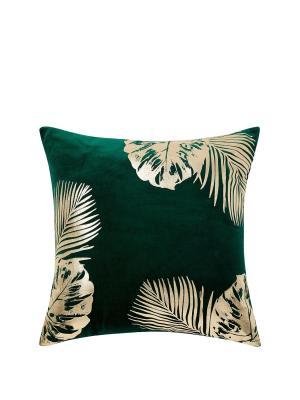 Green Velvet and Gold Cushion