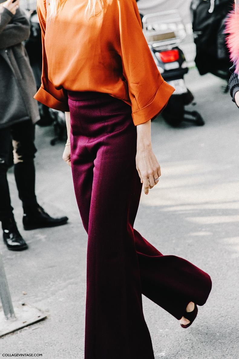 Colour Palette Inspiration for how to wear colour with colour blocking |Orange and Aubergine |It's time to be bold and add some colour to your style. But, how? Here is your inspiration for colours to wear this year and how to wear them. From single pieces, to monochromatic and tonal, to colour blocking, all the inspiration you need for adding colour no matter what your style is here. | kittyandb.com #howtowearcolour #colourinspiration #womensoutfitideas #everydaystyle #colourblock #colourpalette