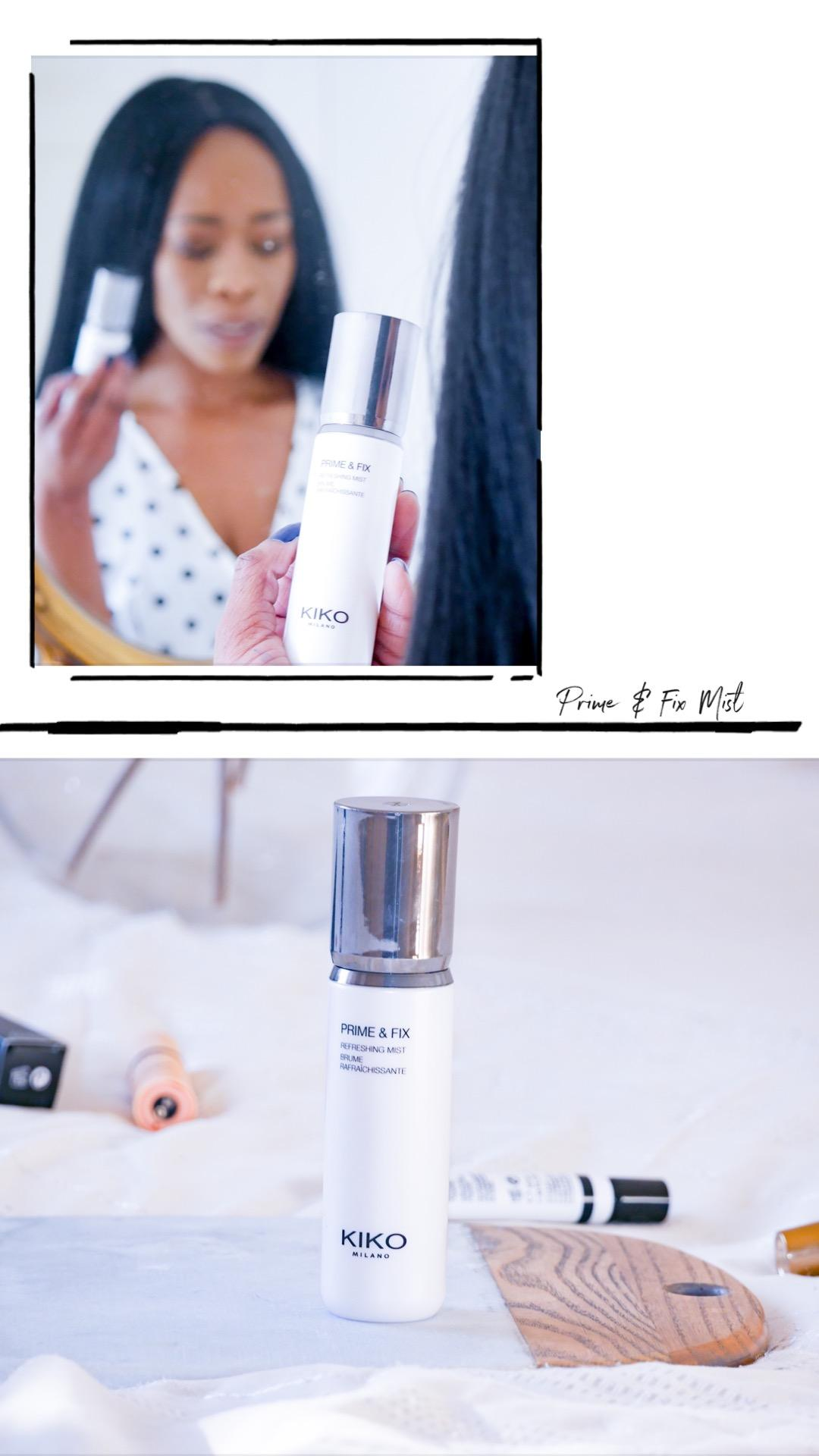 What I bought from KIKO Milano Online| My thoughts on everything I bought - all under £10 including this Prime & Fix mist |If you're looking for cruelty free, affordable makeup and beauty, then you'll definitely be interested| www.kittyandb.com #KIKOTrendsetters #settingspray #beautyreviews #crueltyfree #beautyblog