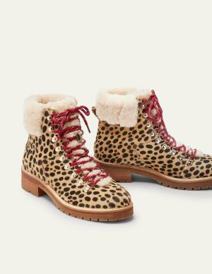 Animal Print Walking Boots