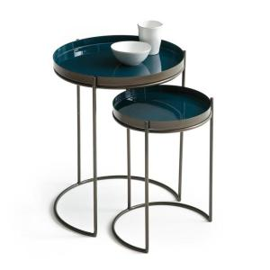 Blue Nested Side Tables
