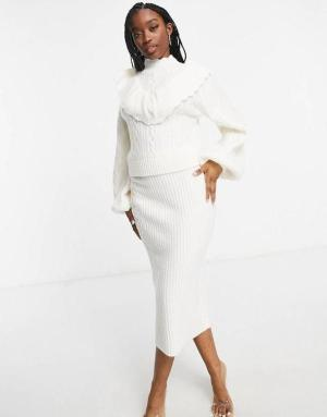 White Cable Knit Coord