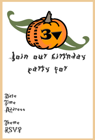 image relating to Printable Halloween Birthday Invitations called Halloween Bash Invitation Template. halloween invitation 35