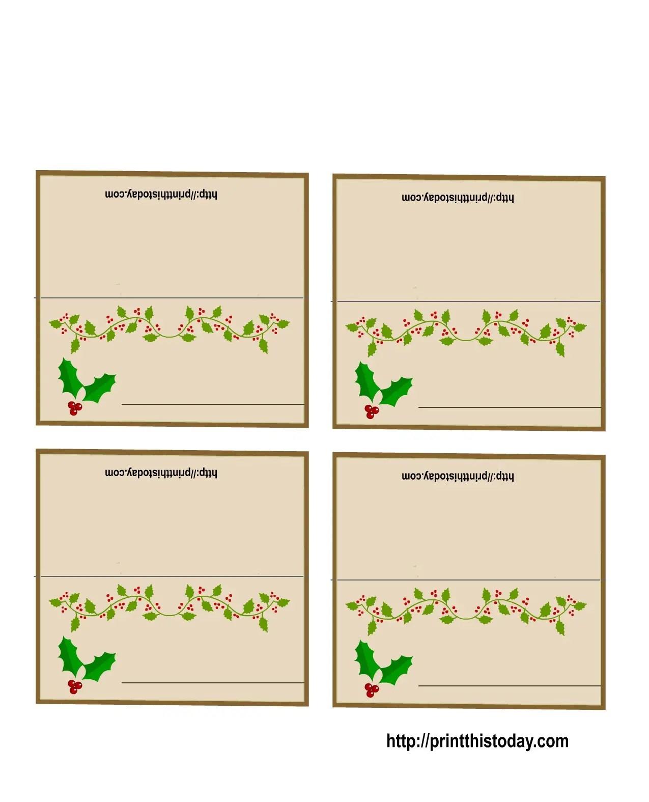 19 Elegant Amp Fun Printable Place Cards