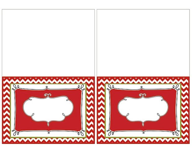 Printable Christmas Place Cards And Card Templates