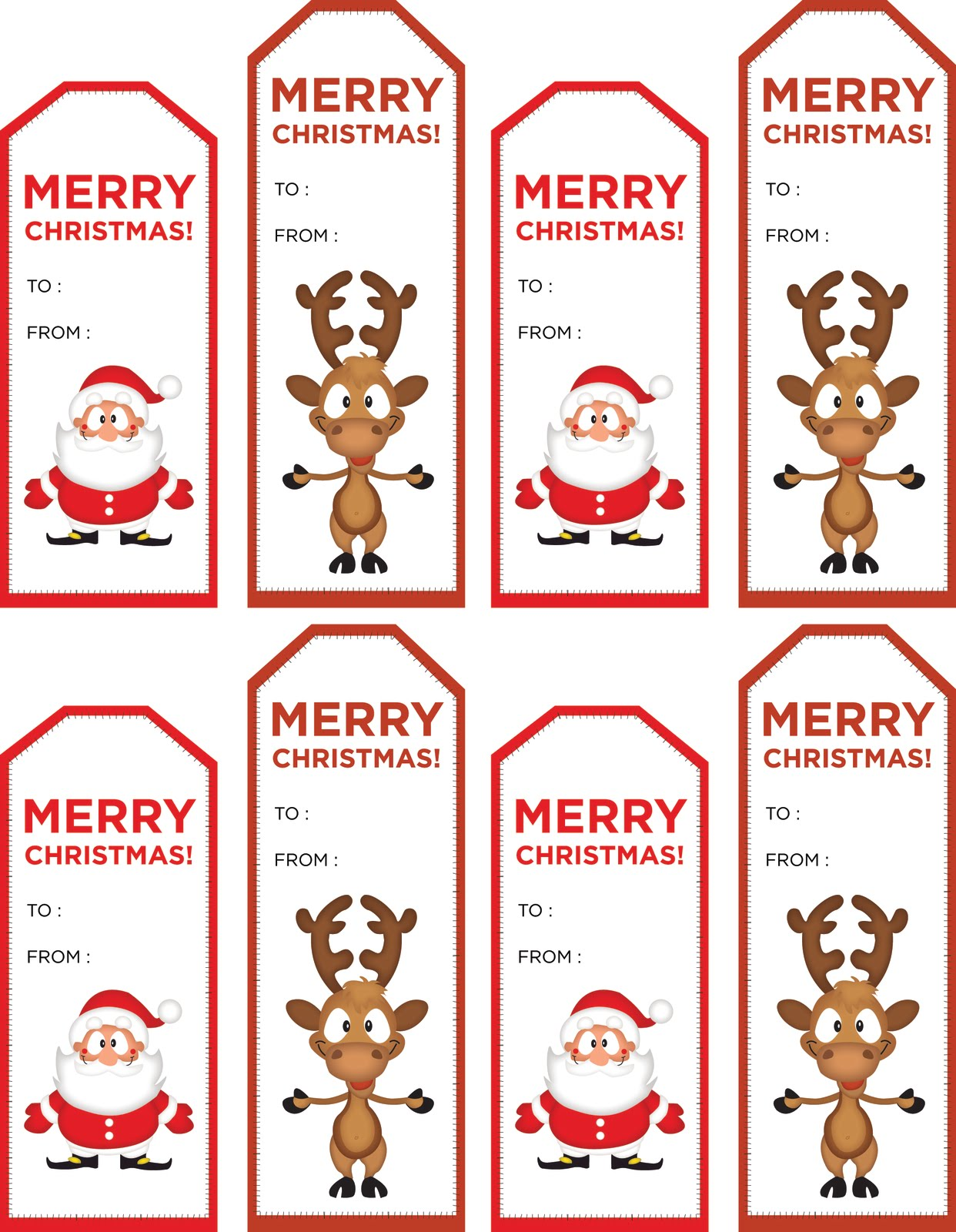 40 Unique Printable Christmas T Tags