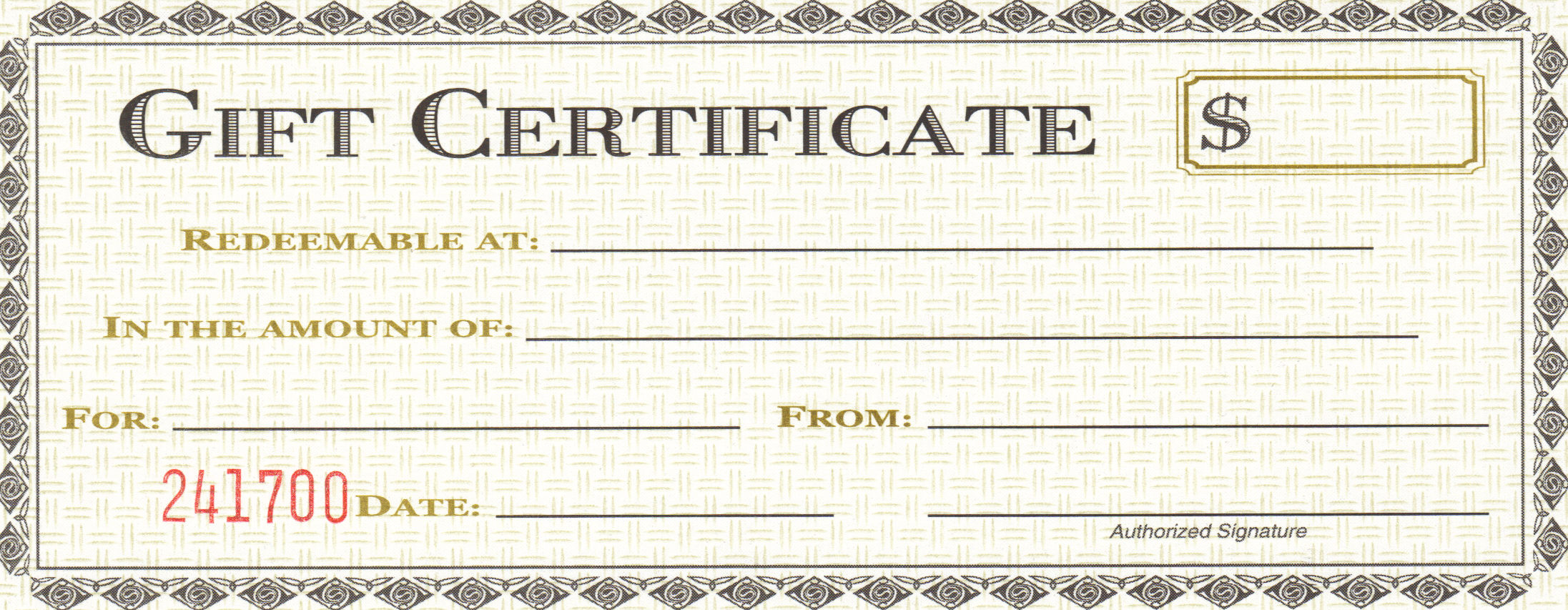 image about Printable Restaurant Gift Cards named On-line Present Certificates For Dining places Printable