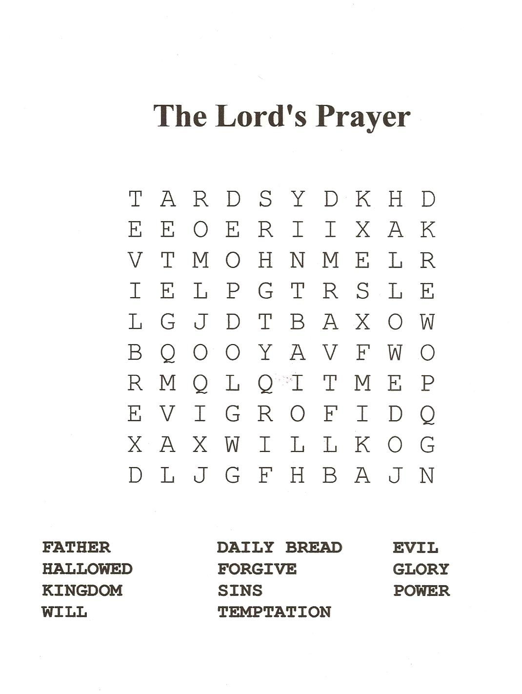 18 Fun Printable Bible Word Search Puzzles