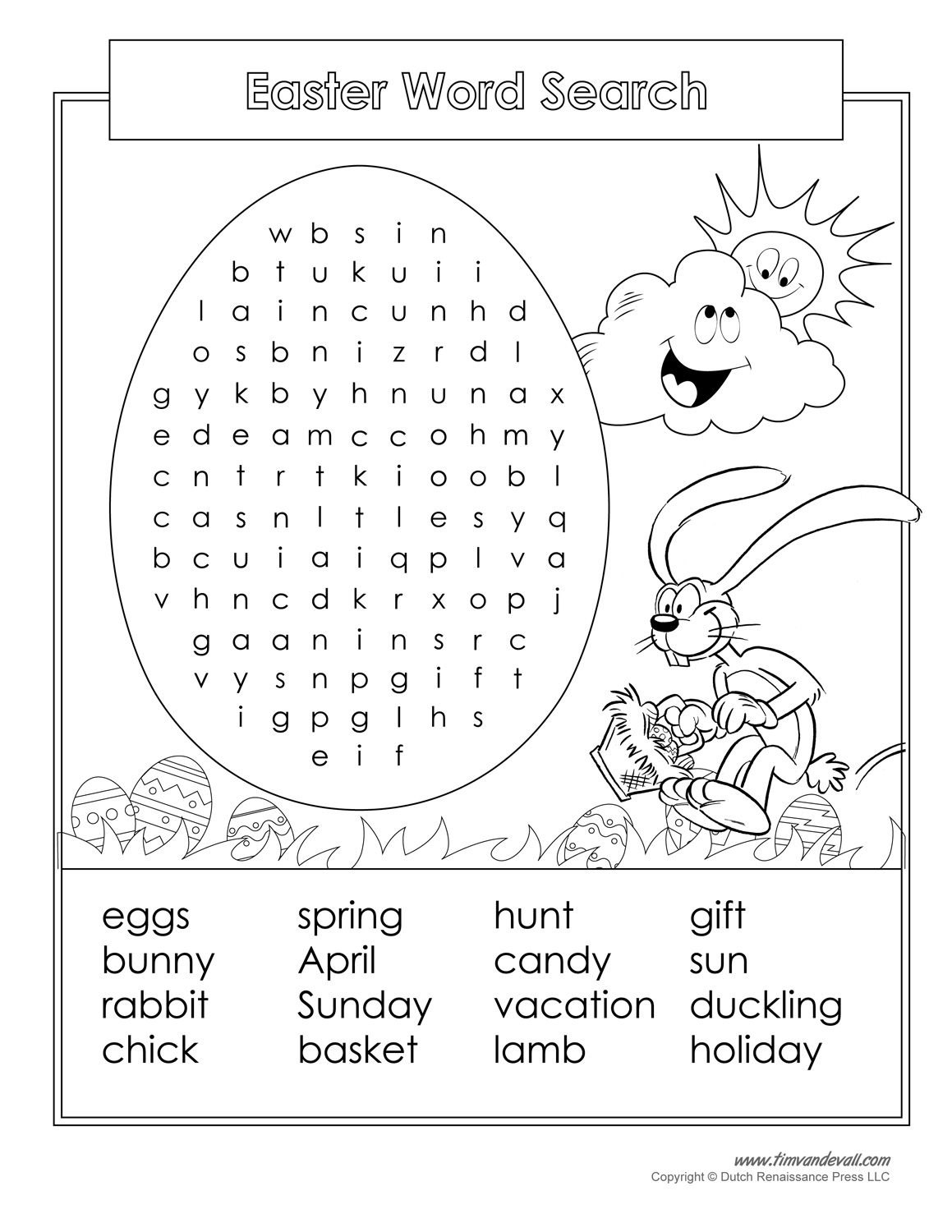 16 Printable Easter Word Search Puzzles