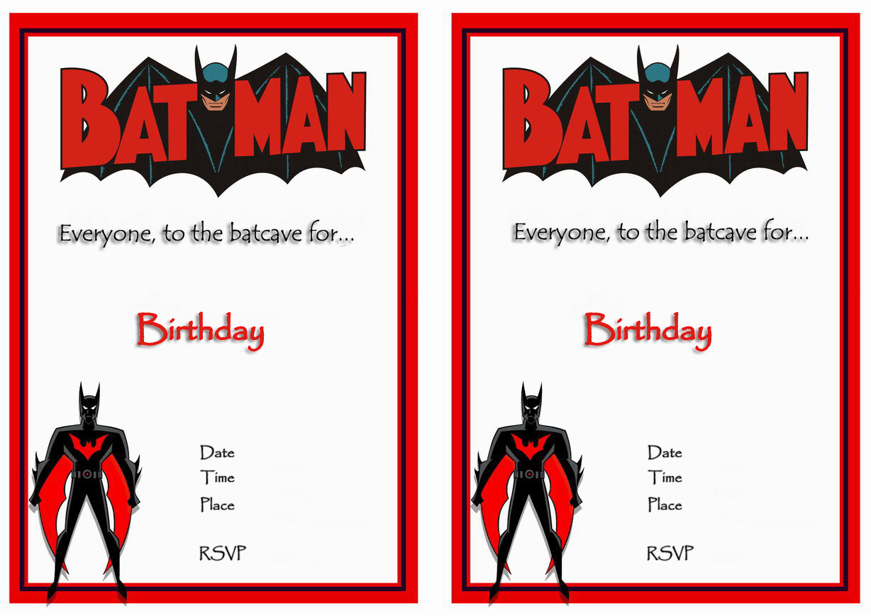 9 Awesome Batman Birthday Invitations