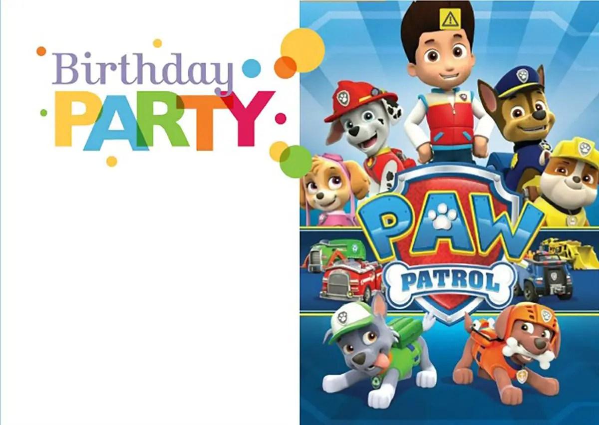 8 Pawsome Paw Patrol Birthday Invitations Kittybabylove Com