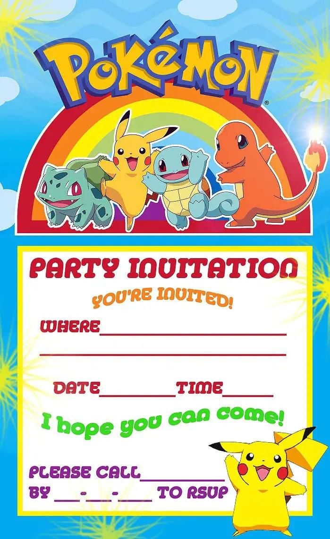 12 superb pokemon birthday invitations
