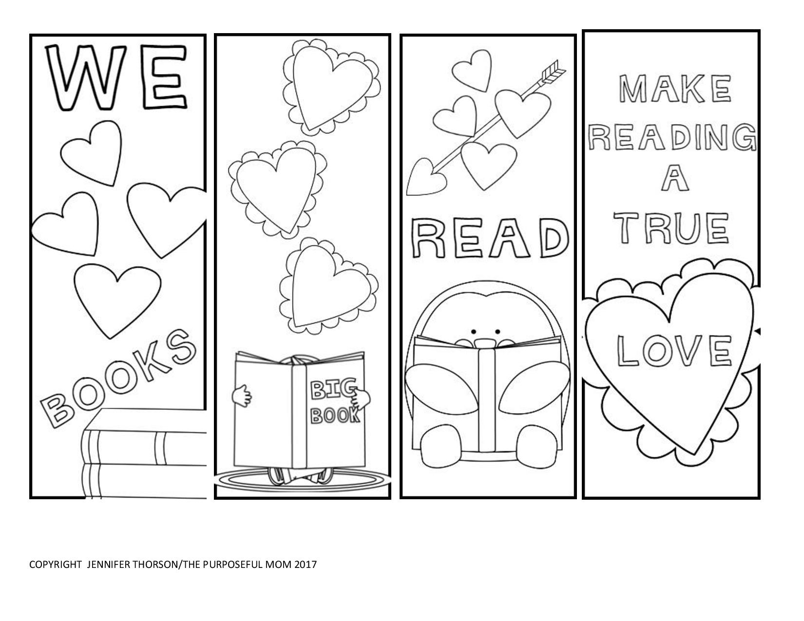 65 Fun Blank Bookmarks To Color For You