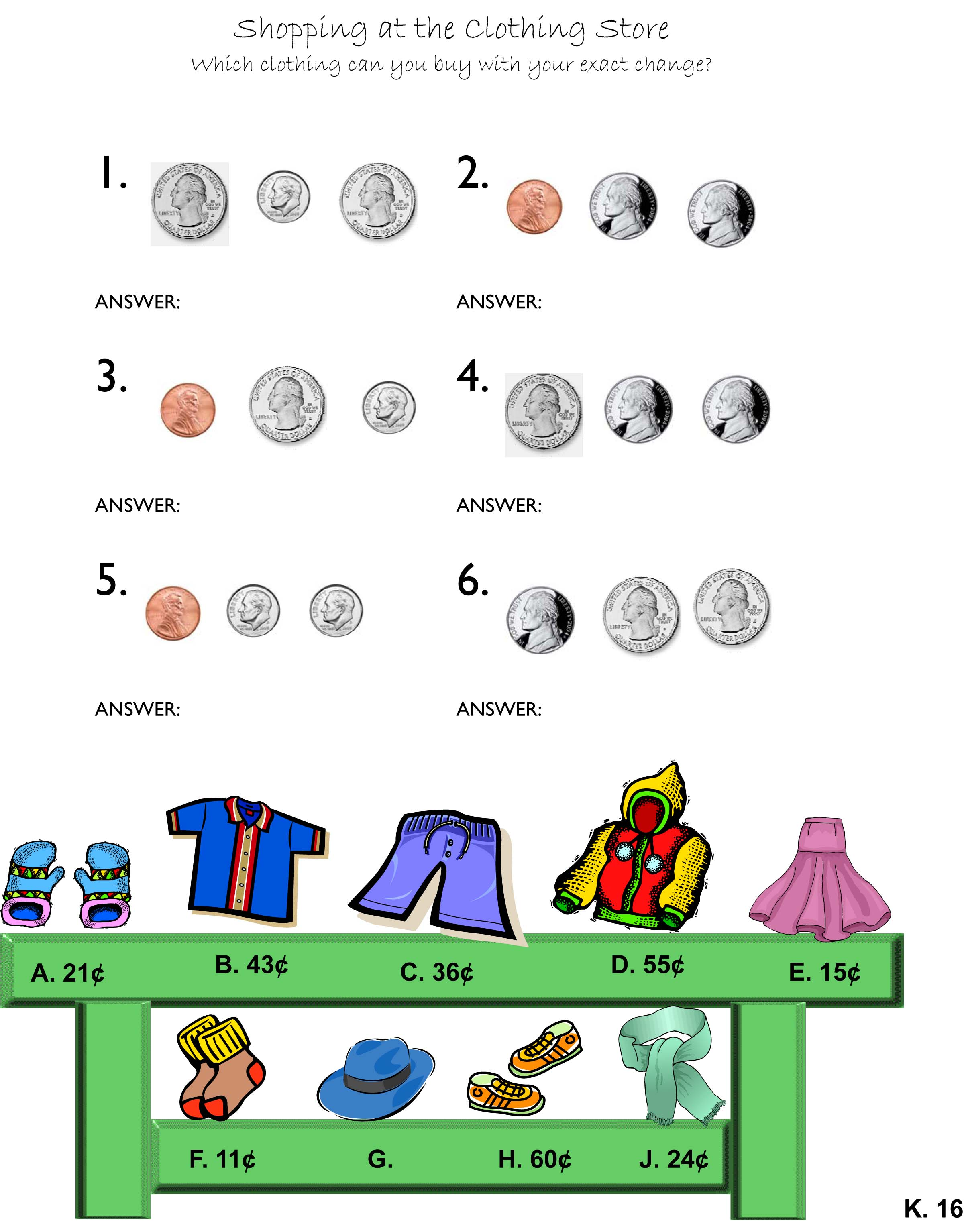 Counting Dollars Worksheet Kindergarten