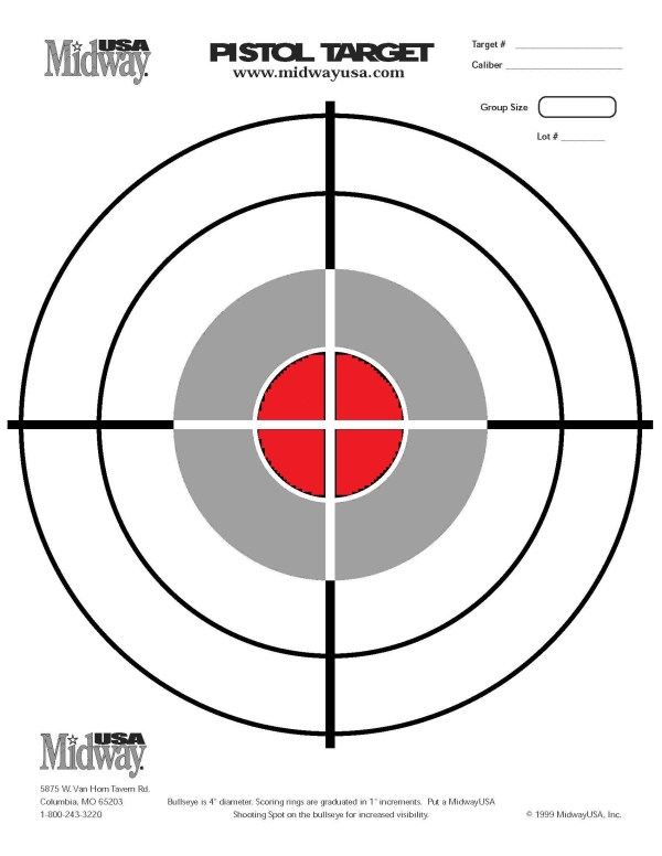 free printable shooting target # 12