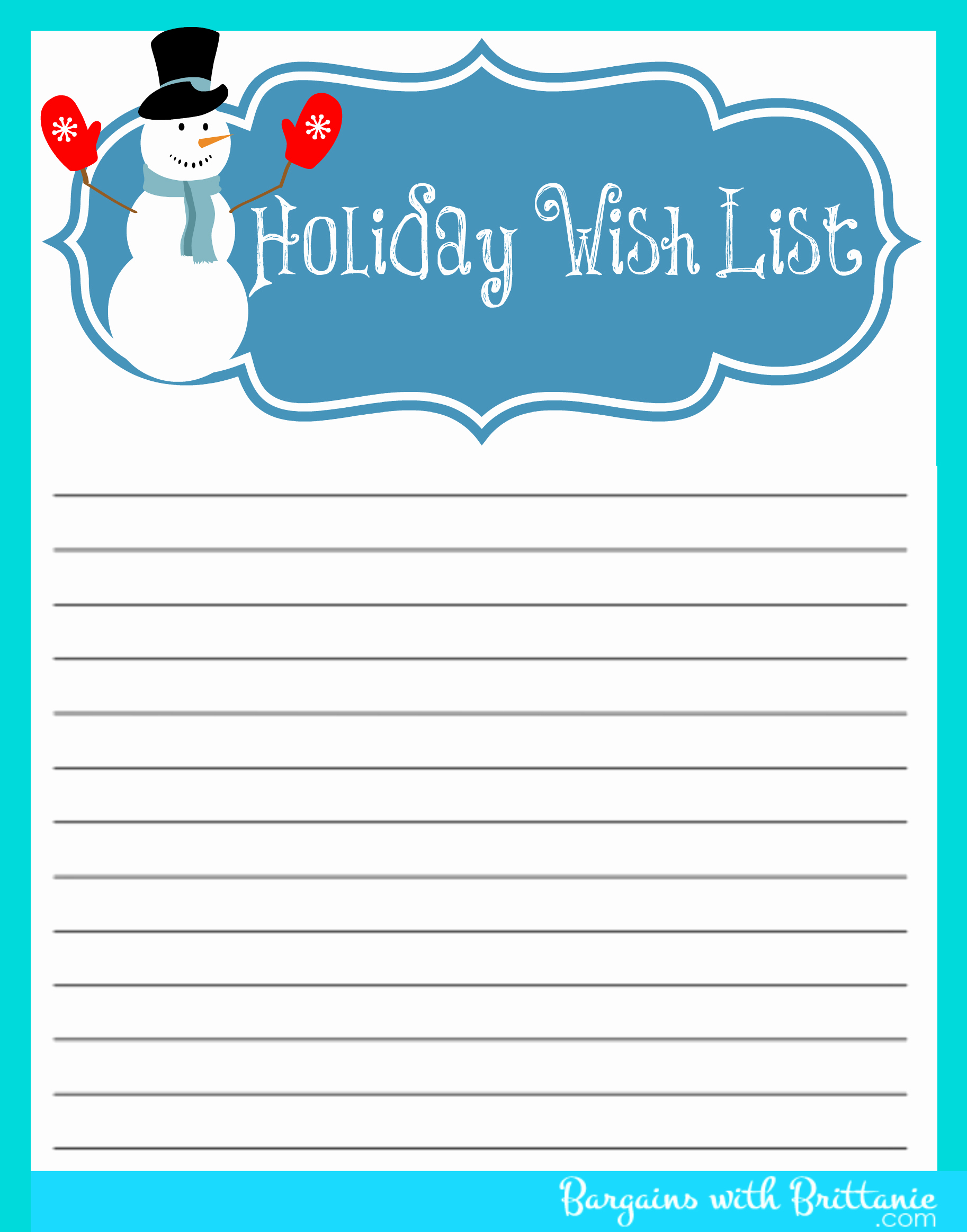 48 Christmas Wish Lists