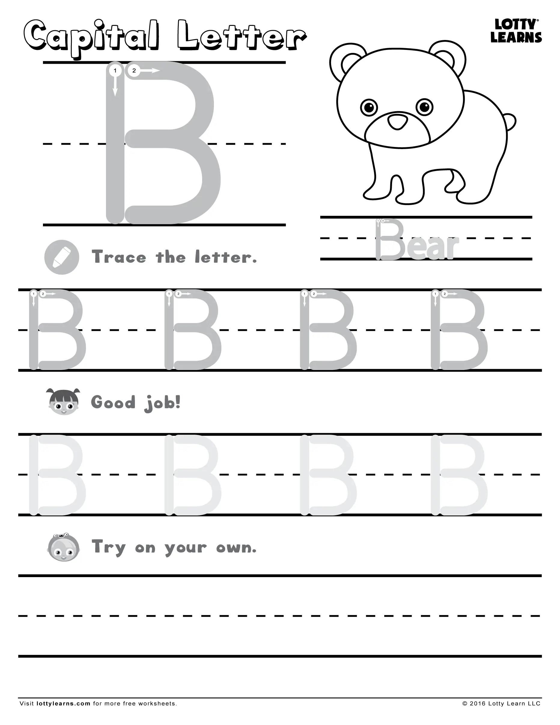 18 Letter B Worksheets For Practicing