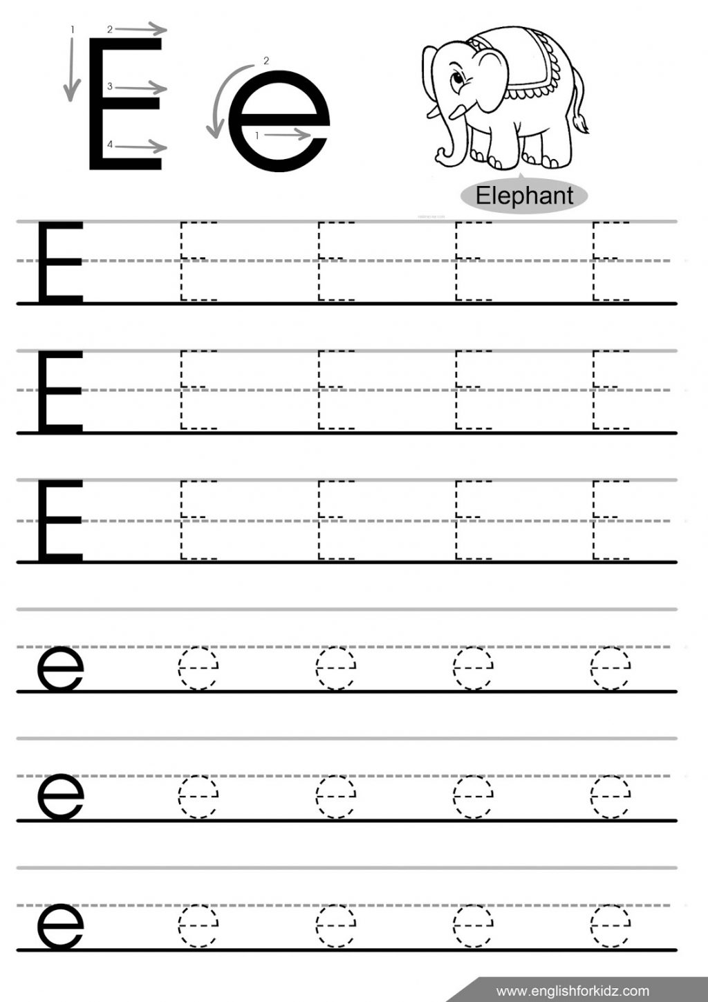 32 Fun Letter E Worksheets