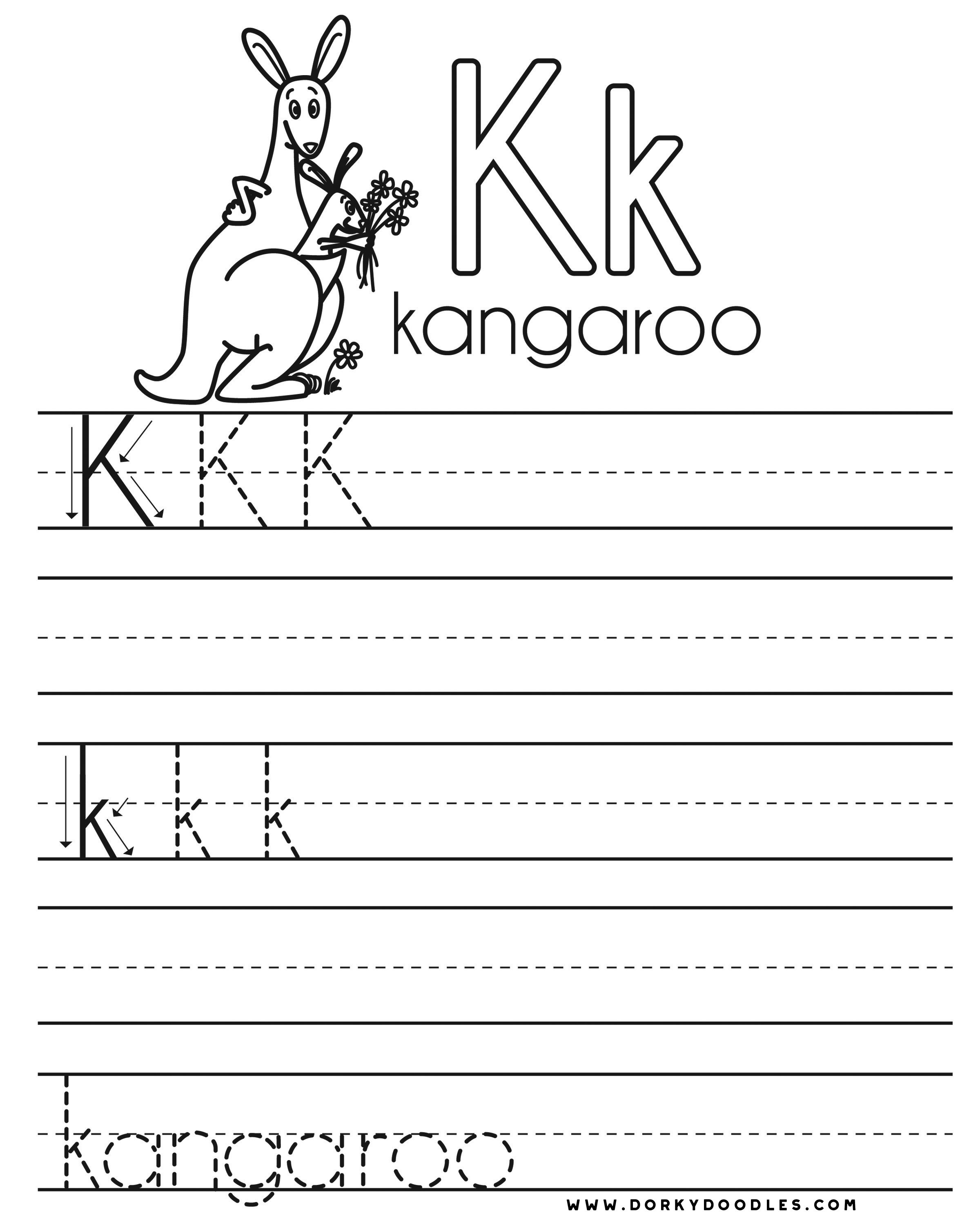 Letter K Worksheet Preschool Printables