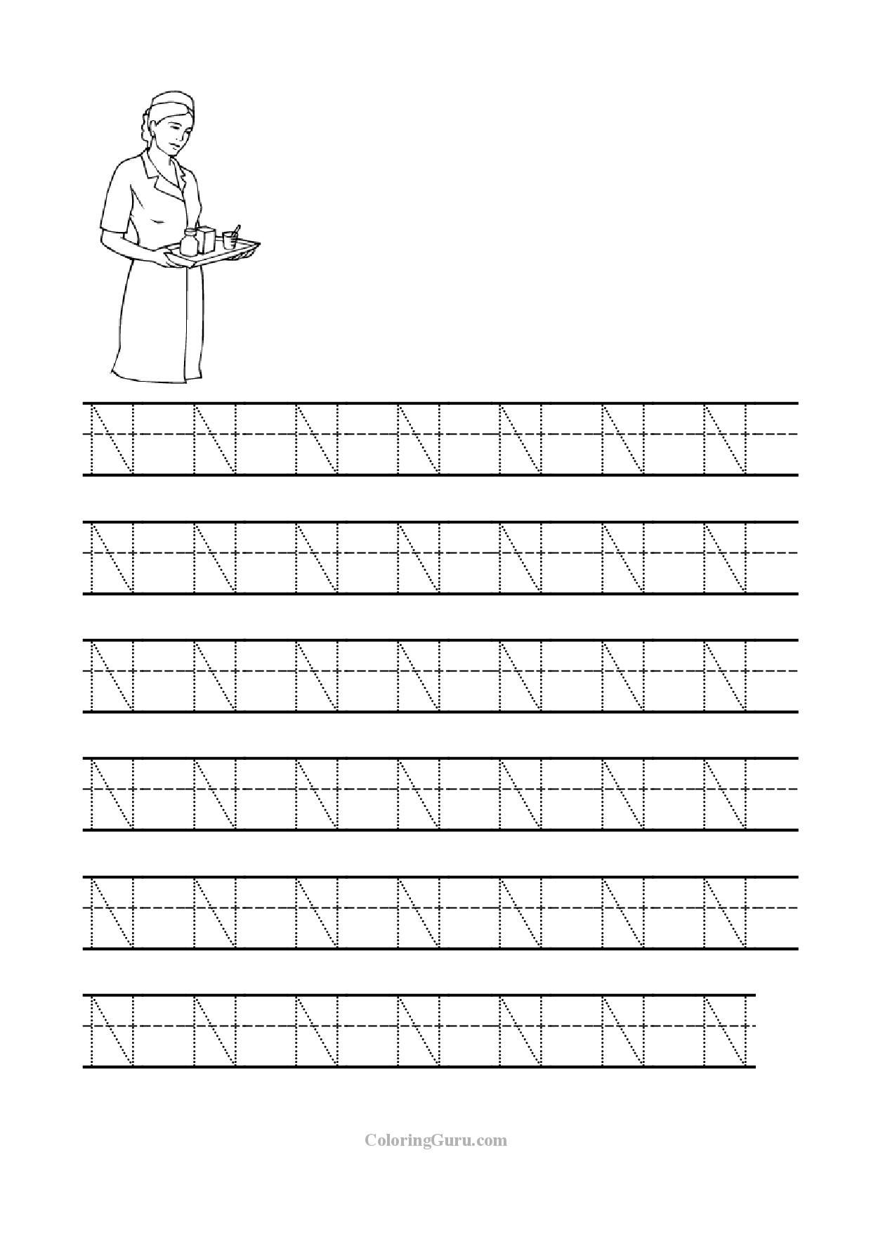 14 Interesting Letter N Worksheets For Kids