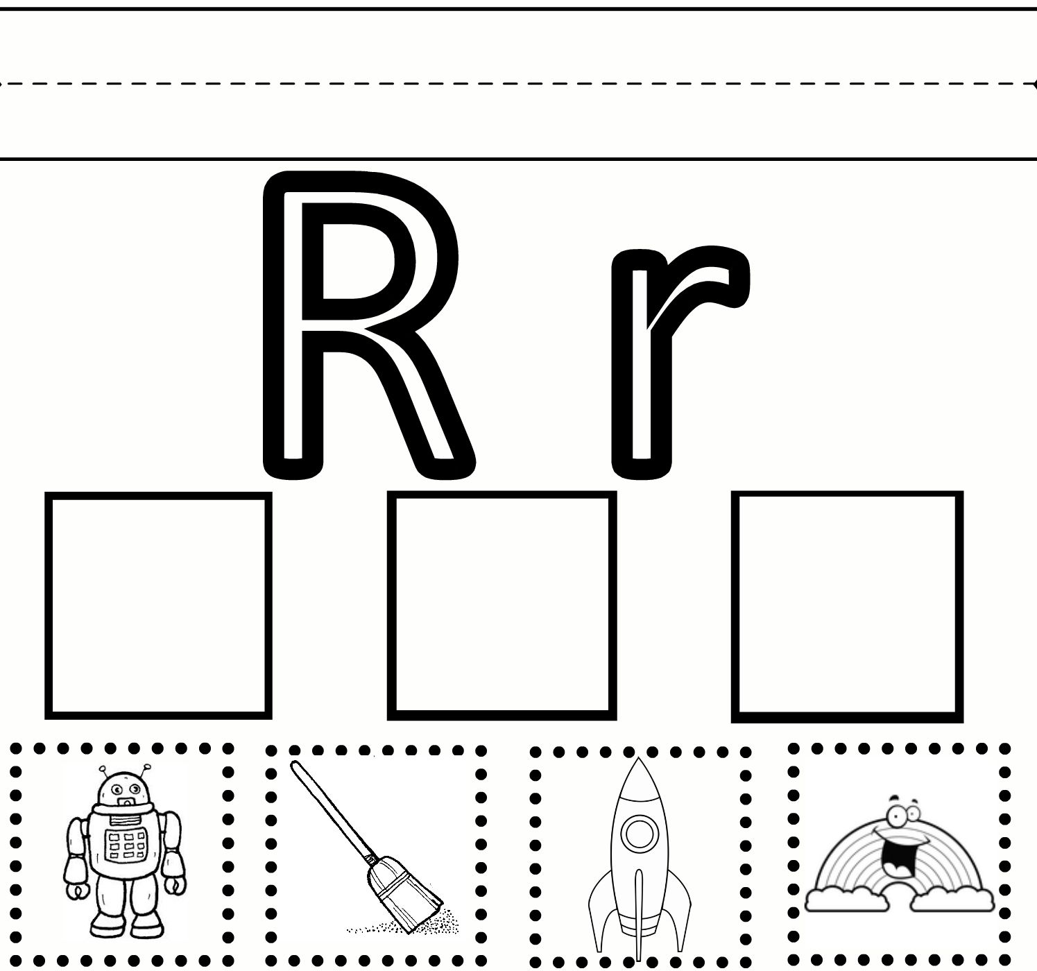 Beginning Sound Cut And Paste Worksheet For Kindergarten