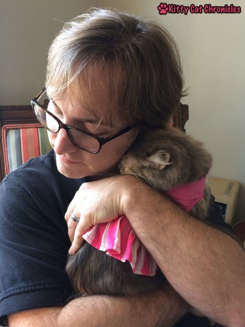 The Love Languages of Cats: Sophie Snuggles Dad